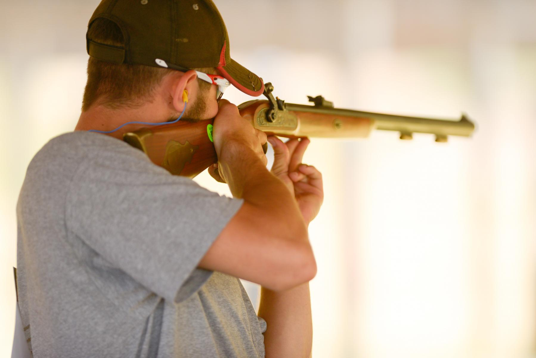 youth participating in competition at the 2018 4-H Shooting Sports Championships