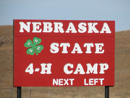 Nebraska State 4-H Camp Sign