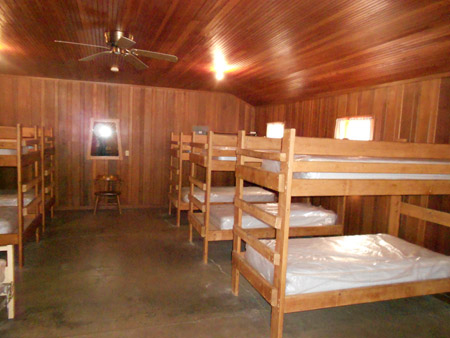 Inside of Cabins showing bunk beds