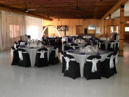 dinning hall rental decoration