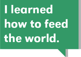 i learned how to feed the world