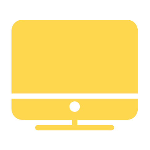 yellow computer icon
