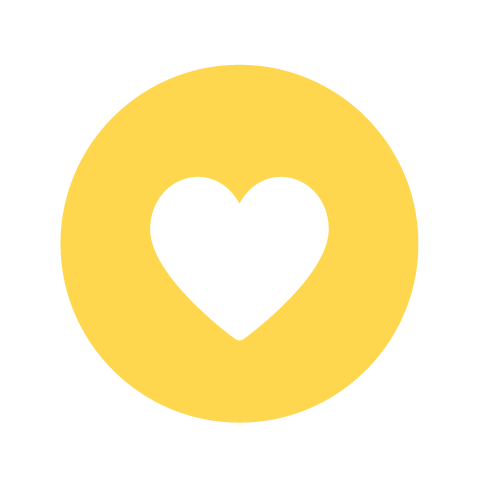circled heart icon