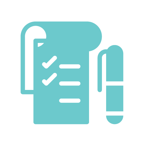 teal notepad icon