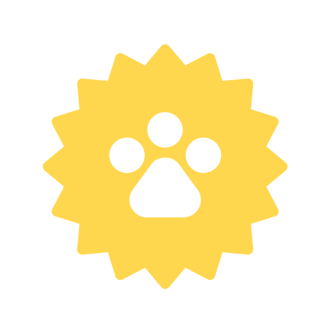 yellow pet seal icon