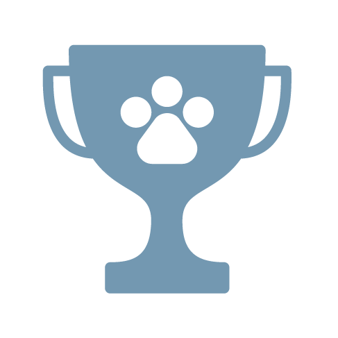 blue pet trophy icon