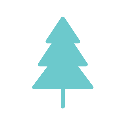 teal tree icon