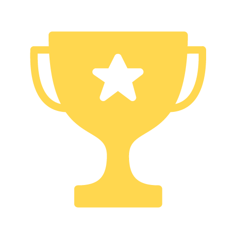 yellow trophy award icon
