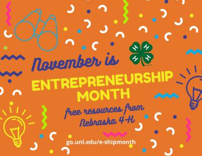 November is National Entrepreneurship Month