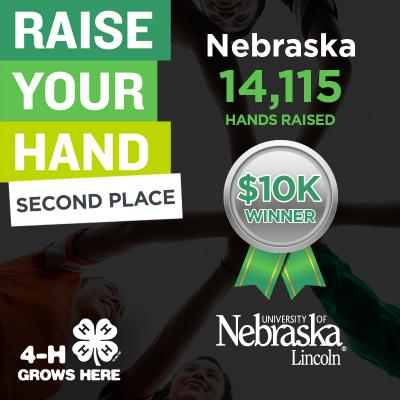 Nebraska 4-H claimed second place in national 4-H raise your hand campaign