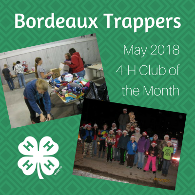 Bordeaux Trappers Nebraska 4-H Club of the Month