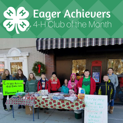 members of the Eager Achievers 4-H Club