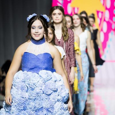 Nebraska 4-H's show off their garments on the Omaha Fashion Week runway
