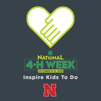 National 4-H Week will be held October 6-12, 2019.