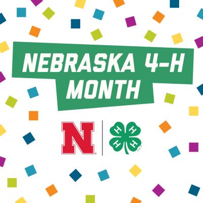 Nebraska 4-H Month graphic