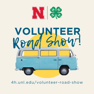 Nebraska 4-H Volunteer Road Show graphic