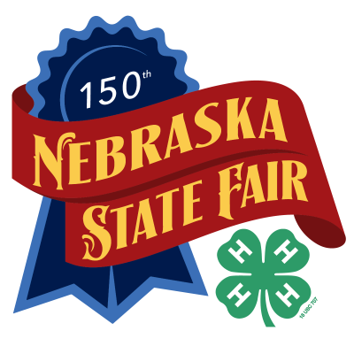 150th Nebraska State Fair graphic and 4-H Emblem
