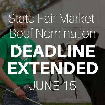 State Fair Market Beef Nomination Deadline Extended to June 15