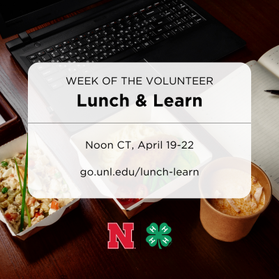 Week of the Volunteer Lunch & Learn graphic