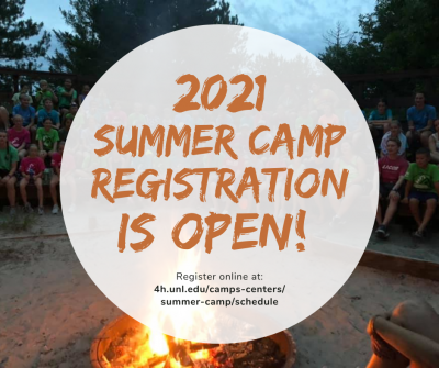 2021 4-H Summer Camp registration is now open